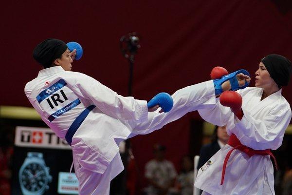 مبارزه چهار کاراته کا ایران در مسابقات لیگ جهانی کانادا