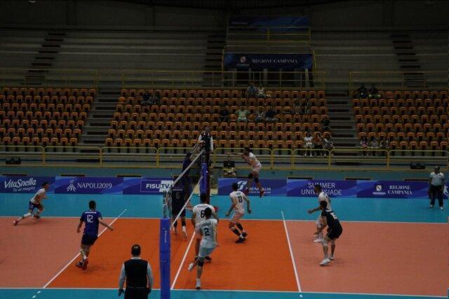 یونیورسیاد دانشجویان دنیا، شکست نزدیک والیبال ایران برابر فرانسه