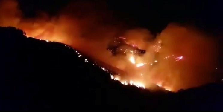 آتش سوزی گسترده در جزیره تفریحی در اسپانیا