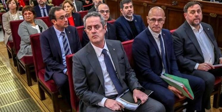 اسپانیا رهبران جنبش استقلال کاتالونیا را به جمعا 100 سال حبس محکوم کرد