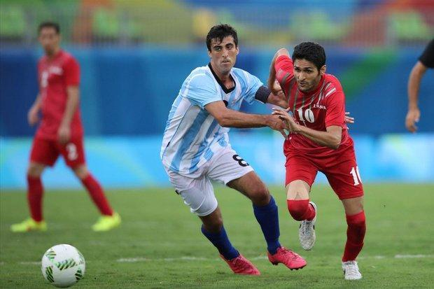 جدال تیم فوتبال هفت نفره ایران و انگلستان برای صعود به فینال